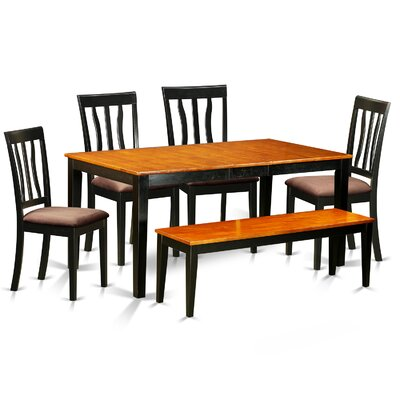 6 Piece Dining Set Upholstery: Microfiber Upholstery