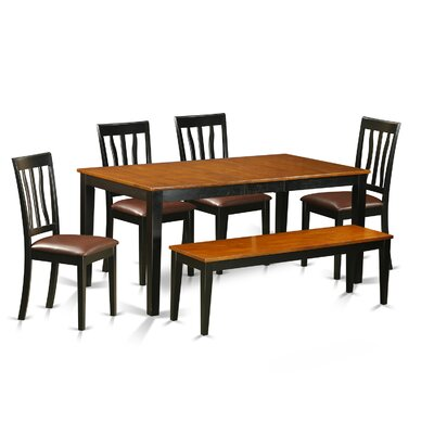 6 Piece Dining Set Upholstery: Faux Leather