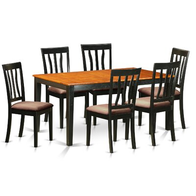 7 Piece Dining Set Upholstery: Microfiber Upholstery
