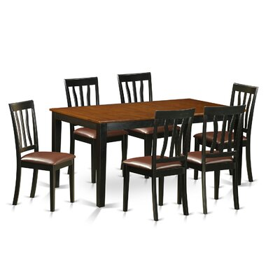 7 Piece Dining Set Upholstery: Faux Leather