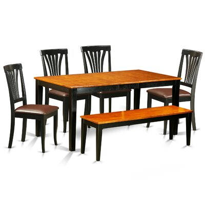 Pillar 6 Piece Wood Dining Set with Rectangular Table Top