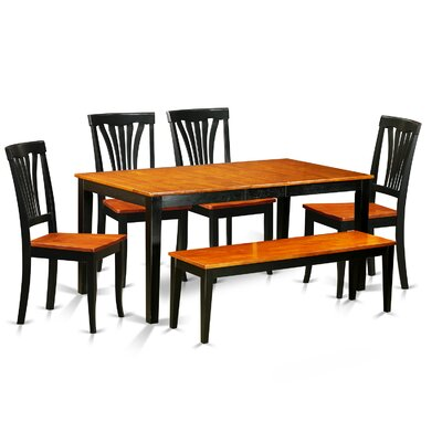 Pillar Traditional 6 Piece Wood Dining Set