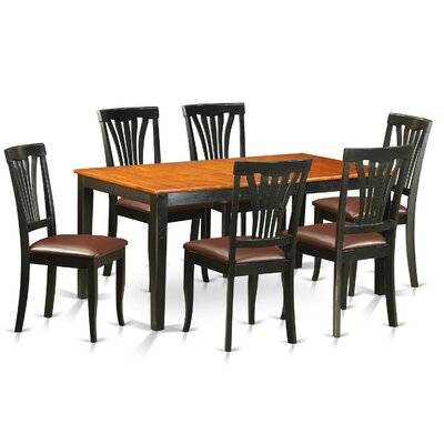 Pillar 7 Piece Dining Set with Rectangular Table Top