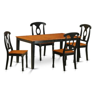 Pillar 5 Piece Wood Dining Set Finish: Black / Cherry