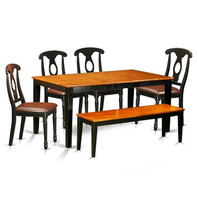 Pillar 6 Piece Wood Dining Set