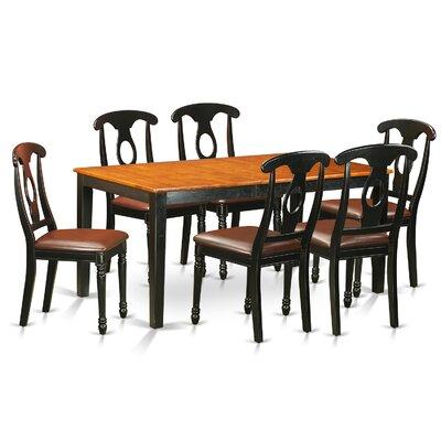 Pillar Traditional 7 Piece Dining Set with Rectangular Table Top