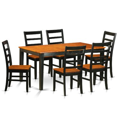 Pillar 7 Piece Wood Dining Set with Rectangular Table Top