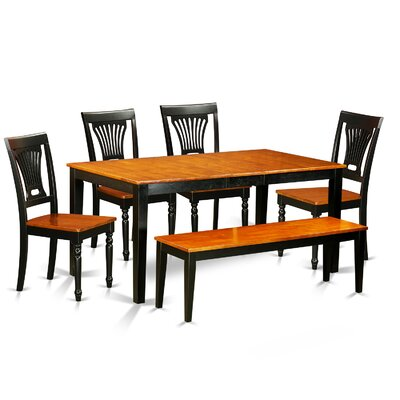Pillar 6 Piece Rubberwood Dining Set