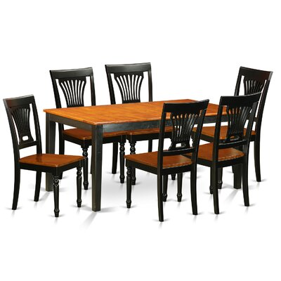 Pillar Traditional 7 Piece Wood Dining Set with Rectangular Table Top