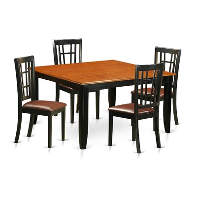 Parfait 5 Piece Dining Set Upholstery: Faux Leather