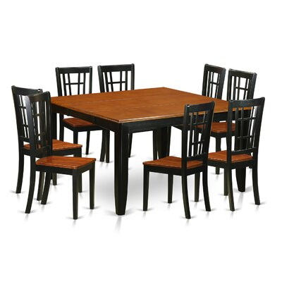 Pilning Contemporary 9 Piece Dining Set