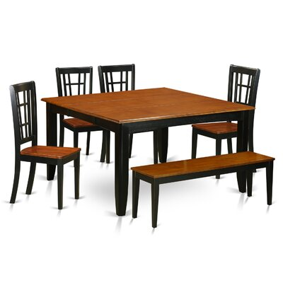 Pilning Modern 6 Piece Wood Dining Set
