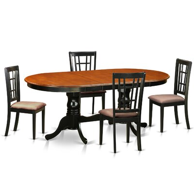 Pilcher Modern 5 Piece Wood Dining Set Upholstery: Microfiber