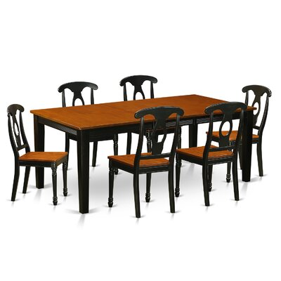 Quincy 7 Piece Dining Set Finish: Black & Cherry