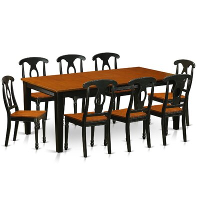 Quincy 9 Piece Dining Set Finish: Black & Cherry