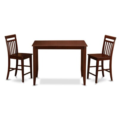 Buckland 3 Piece Counter Height Dining Set