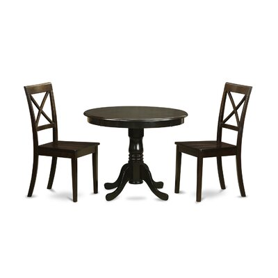 3 Piece Dining Set Finish: Cappuccino