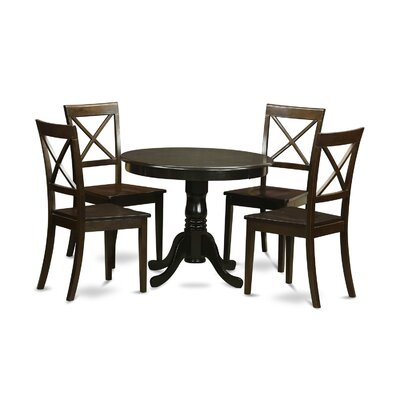 5 Piece Dining Set Finish: Cappuccino