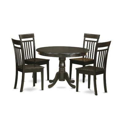 Hartland 5 Piece Dining Set Finish: Cappuccino