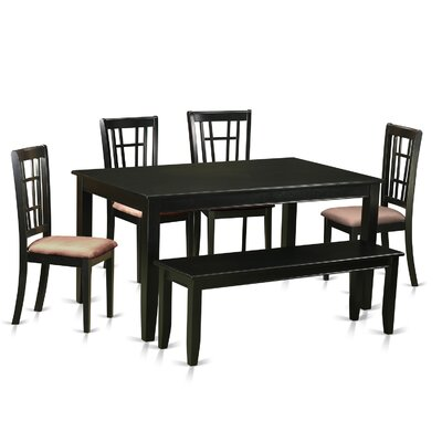 Dudley 6 Piece Dining Set Upholstery: Microfiber