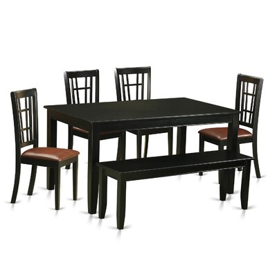 Dudley 6 Piece Dining Set Upholstery: Faux Leather