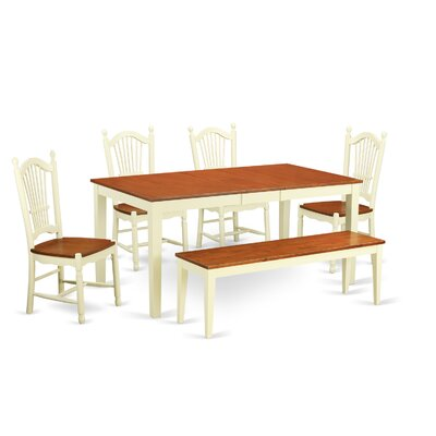 Pillar Modern 6 Piece Wood Dining Set