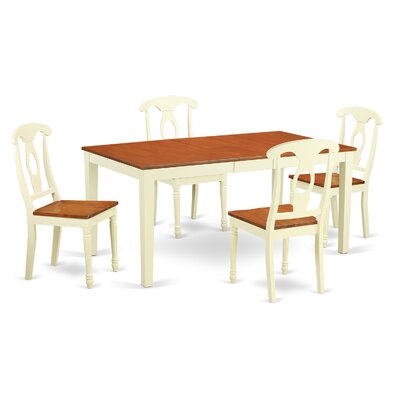 Pillar 5 Piece Wood Dining Set Finish: Buttermilk / Cherry