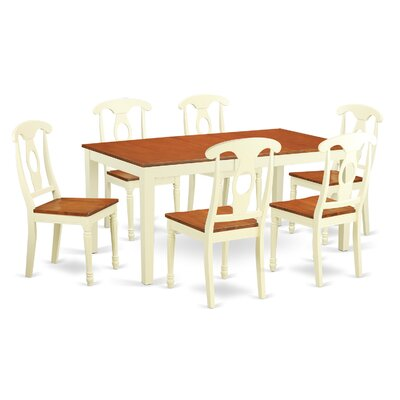 Nicoli 7 Piece Dining Set Finish: Buttermilk / Cherry