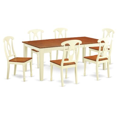 Quincy 7 Piece Dining Set Finish: Buttermilk & Cherry
