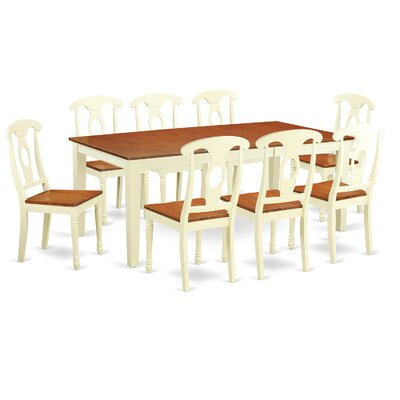 Quincy 9 Piece Dining Set Finish: Buttermilk & Cherry