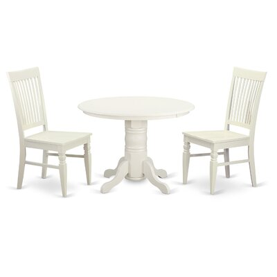 Shelton 3 Piece Dining Set Finish: Linen White