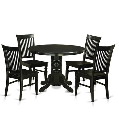 Shelton 5 Piece Dining Set Finish: Black
