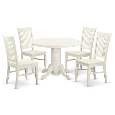 Shelton 5 Piece Dining Set Finish: Linen White