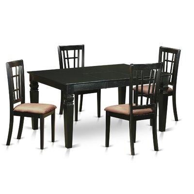 Shelton 5 Piece Dining Set Upholstery: Microfiber