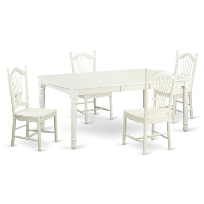 Pimentel Modern 5 Piece Dining Set Finish: Linen White