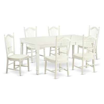 Pimentel Modern 7 Piece Dining Set Finish: Linen White