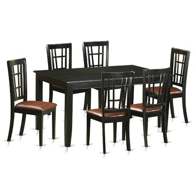 Dudley 7 Piece Dining Set Upholstery: Faux Leather