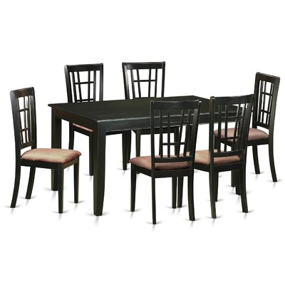 Dudley 7 Piece Dining Set Upholstery: Microfiber