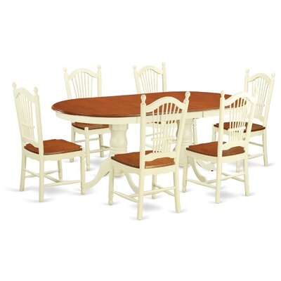 Pilcher Contemporary 7 Piece Wood Dining Set