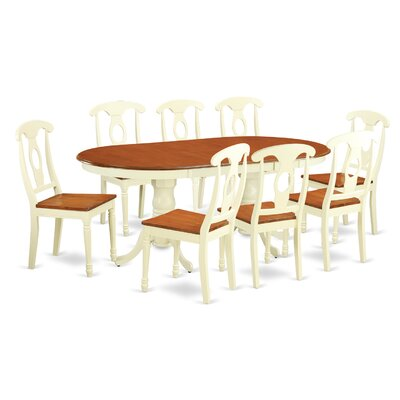 Pilcher Modern 9 Piece Dining Set Finish: Buttermilk / Cherry