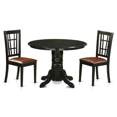 Shelton 3 Piece Dining Set Upholstery: Faux Leather