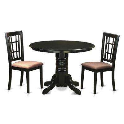 Shelton 3 Piece Dining Set Upholstery: Microfiber