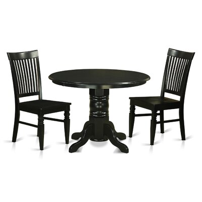 Shelton 3 Piece Dining Set Finish: Black