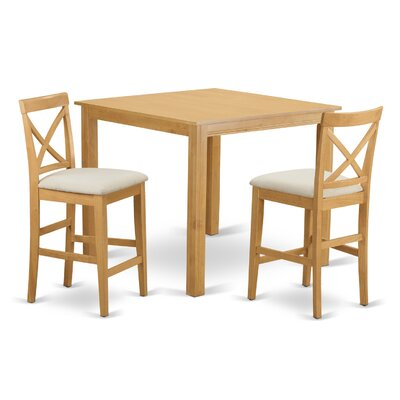 Cafe 3 Piece Counter Height Pub Table Set
