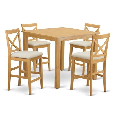 Cafe 5 Piece Counter Height Pub Table Set