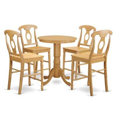 Eden 5 Piece Counter Height Pub Table Set Finish: Oak