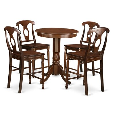 Eden 5 Piece Counter Height Pub Table Set Finish: Mahogany