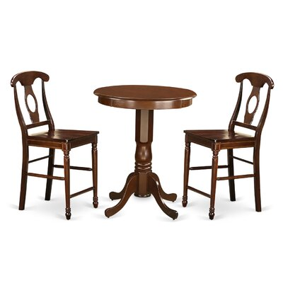 Eden 3 Piece Counter Height Pub Table Set Finish: Mahogany
