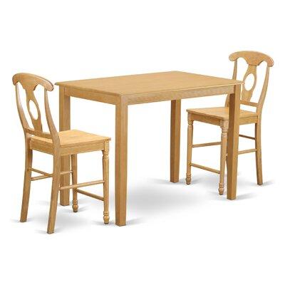 Yarmouth 36 3 Piece Pub Table Set Color: Oak