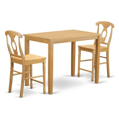 Yarmouth 36 3 Piece Pub Table Set Finish: Oak